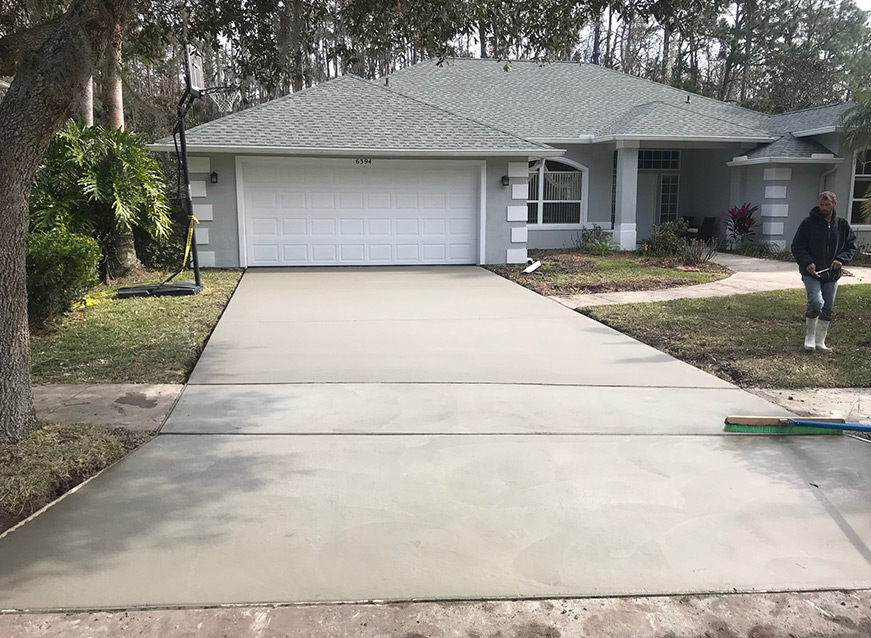 Concrete Driveway Completed